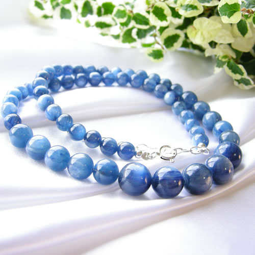 カイヤナイト パワーストーン 藍色の結晶! カヤナイト ネックレス パワ-スト-ン 天然石 水晶 メンズ レディース 癒し 浄化 幸運 送料無料