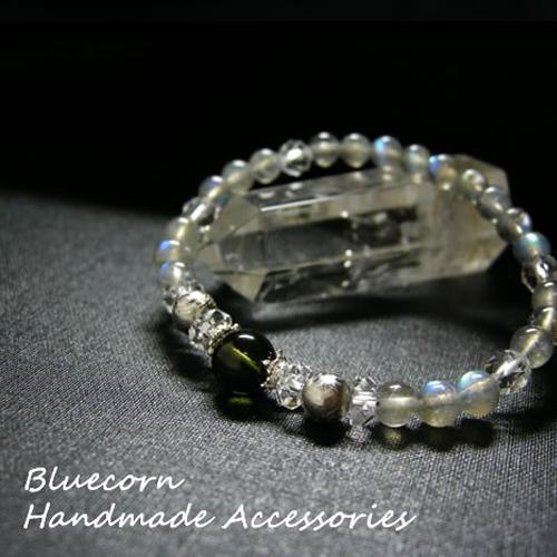 パワーストーン ブレスレット メンズ レディース 高品質 モルダバイト と ギベオン隕石 & ラブラドライト ブレスレット パワ-スト-ン 天然石 パワーストーンブレスレット 送料無料