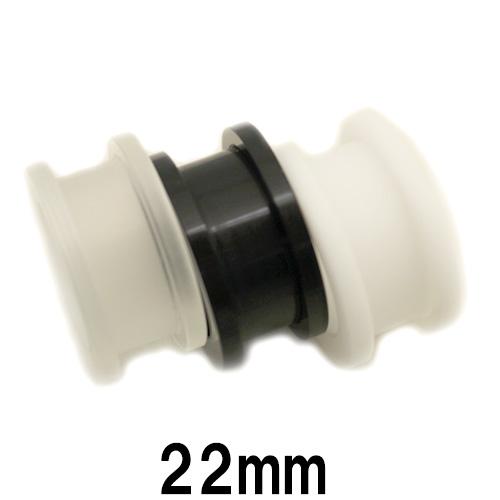 金属アレルギーの方でも安心 アクリル製トンネル 推奨 ボディピアス アクリル 22mm 直送商品 トンネル