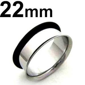 マート サージカルステンレス製シングルフレアイヤレット ボディピアス サージカルステンレス シングルフレアイヤレット 当店は最高な サービスを提供します 22mm