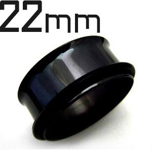 激安特価品 サージカルステンレス製シングルフレアイヤレット ボディピアス ブラックチタン 22mm シングルフレアイヤレット 価格交渉OK送料無料
