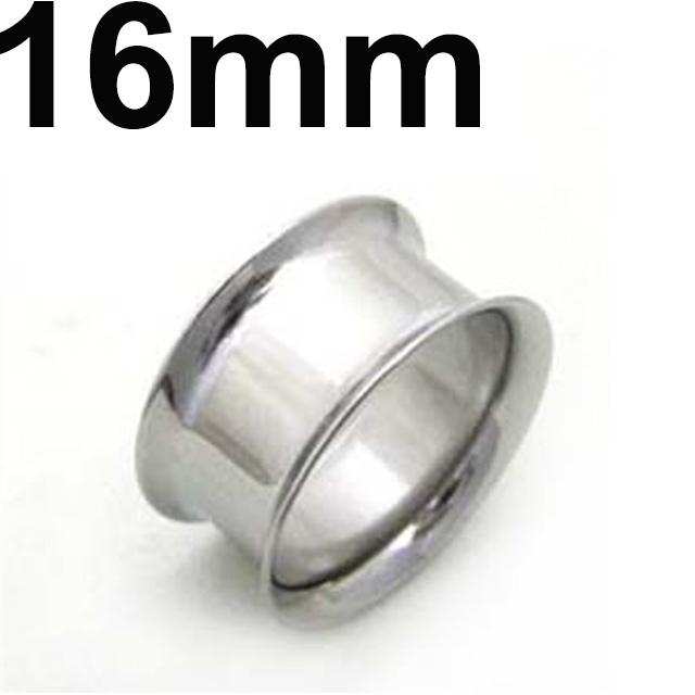 サージカルステンレス製ダブルフレアイヤレット ボディピアス 国内在庫 サージカルステンレス ダブルフレアイヤレット 16mm 優先配送
