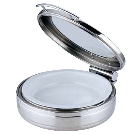 KINGO(キンゴー) 丸チェーフィング J301-Tガラス蓋・陶器中皿 (NKV3001)