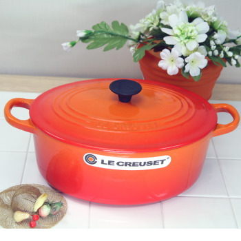 品質は非常に良い ル・クルーゼ(Le Creuset) creuset) ココットオーバル 27cm 27cm オレンジ (日本正規販売品)ルクルーゼ(le creuset), ソノベチョウ:74c4ba36 --- pressure-shirt.xyz