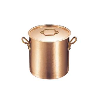 寸胴鍋 (蓋付) 銅製 モービル 2148-28 28cm
