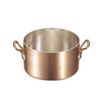 半寸胴鍋 (蓋無) 銅製 モービル 2151-04 40cm