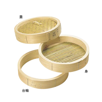 中華セイロ 蓋 ひのき 51cm