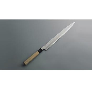 柳刃庖丁 銀三鋼 兼松作 33cm