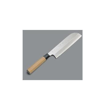 薄刃庖丁 鎌型 銀三鋼 兼松作 19.5cm