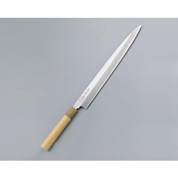 柳刃庖丁 本霞・玉白鋼 正本 21cm