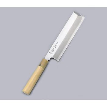 薄刃庖丁 東形 本霞・玉白鋼 正本 19.5cm