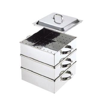 角蒸器 2段 業務用 電磁 18-8(ステンレス) 30cm
