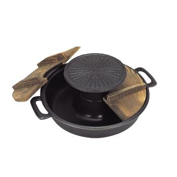 焼きしゃぶ鍋 アルミ (フッ素加工) 五進 30cm