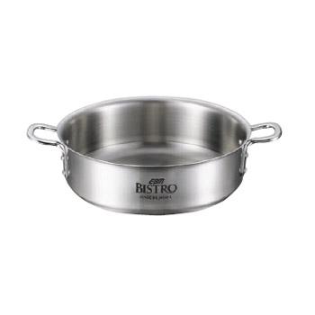 外輪鍋 蓋無 三層クラッド ビストロ 42cm
