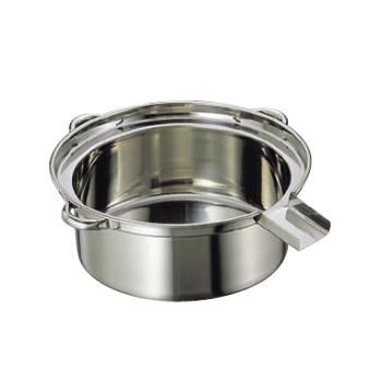 ゆで麺鍋 Cタイプ 18-8(ステンレス) 大 (φ500×185)