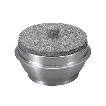 石焼釜 (石 蓋付 ) アルミ 枠付 長水遠赤 22cm