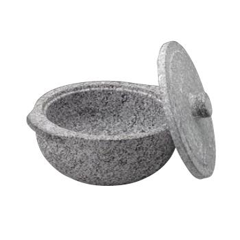 石鍋土鍋風 (蓋付) 長水遠赤 22cm