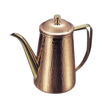 コーヒーポット 槌目入 銅製 5人用 740cc