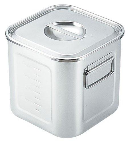 SAモリブデン深型角キッチンポット 目盛付(手付) 33cm (AKK05033)