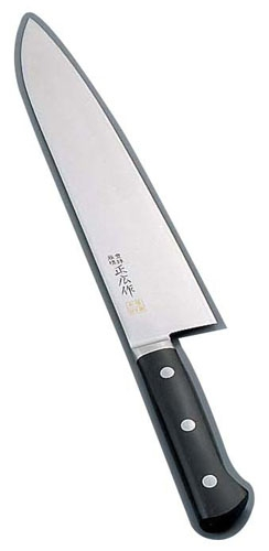正広作 MV鋼本焼 牛刀(両刃) 14812 24cm (AMSI203)