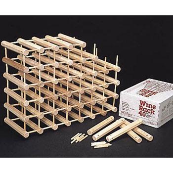 ワインラック 組立式 木製 40ボトル用