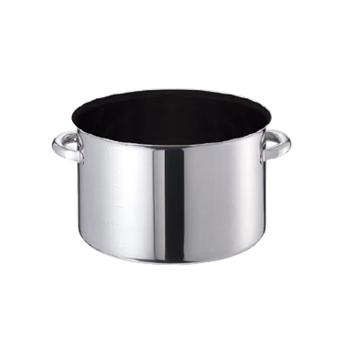 〈欠品中〉半寸胴鍋 蓋無 モリブデンジ2プラス (目盛付) ノンスティック 48cm