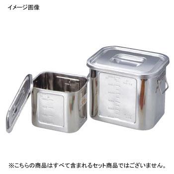 角キッチンポット 目盛付 手付 18-8(ステンレス) 36型