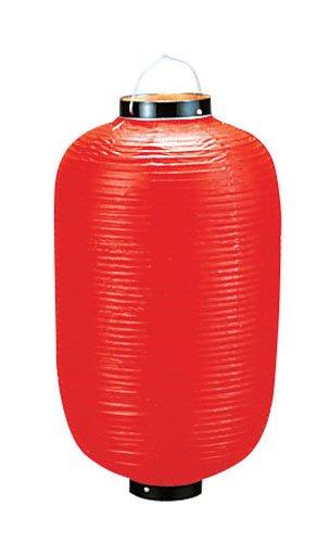 ビニール提灯長型 《18号》 赤ベタ (YTY01183Q)