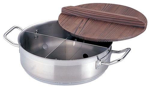 21-0 TKG プロ 電磁用丸型おでん鍋 (木蓋付) 小 (EOD292)