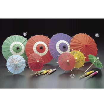 飾り番傘 B 蛇ノ目傘 緑 (64137) (100ヶ入)