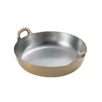 揚鍋 プレス製 銅製 33cm (板厚3.0mm)