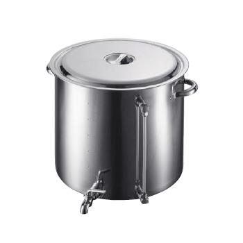 18-8(ステンレス) スープ寸胴鍋 (蛇口・水量計付) 80型