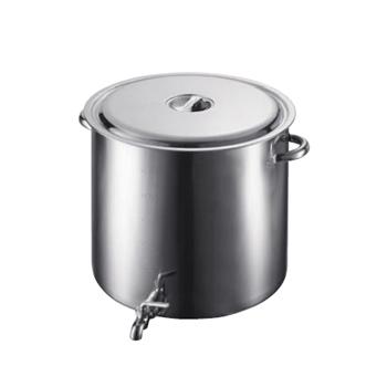 18-8(ステンレス) スープ寸胴鍋 (蛇口付) 55cm