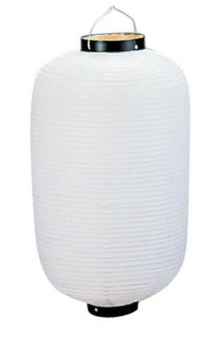 ビニール提灯長型 《20号》 白ベタ b421 (YTY01201M)