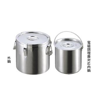 二重保温食缶 ステンレス 38cm