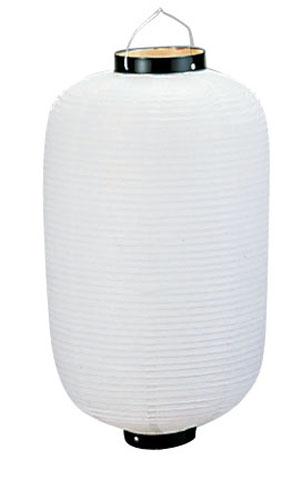 ビニール提灯長型 《25号》 白ベタ b426 (YTY01251M)