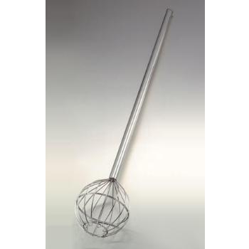 ロング泡立 パイプ柄 18-8(ステンレス) 丸型