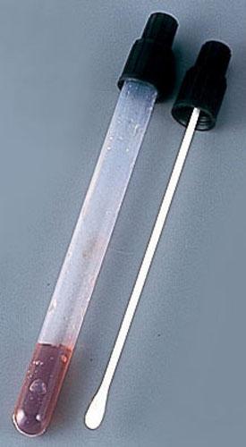 簡易ふきとり型培地試薬 セップメイト (100本入)サルモネラ菌用 (BST232)