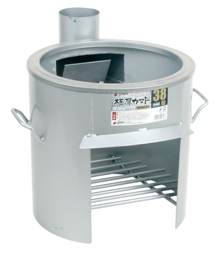 極厚かまど 煙突取付式(鍋受リング付) 38型 OSー0659 (GKM0601)