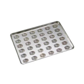 天板 貝形マドレーヌ型 小 シリコン加工(36ヶ取)