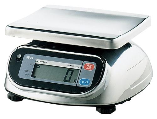 防水・防塵デジタル秤 10kg SL-10KWP (BHK464)