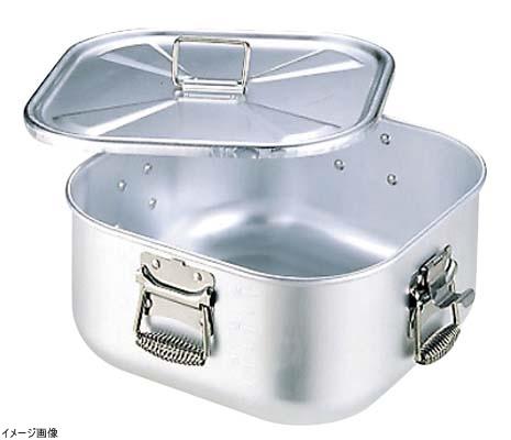 アルミ 角 ガス炊飯鍋 蓋付 12.6L 7升炊