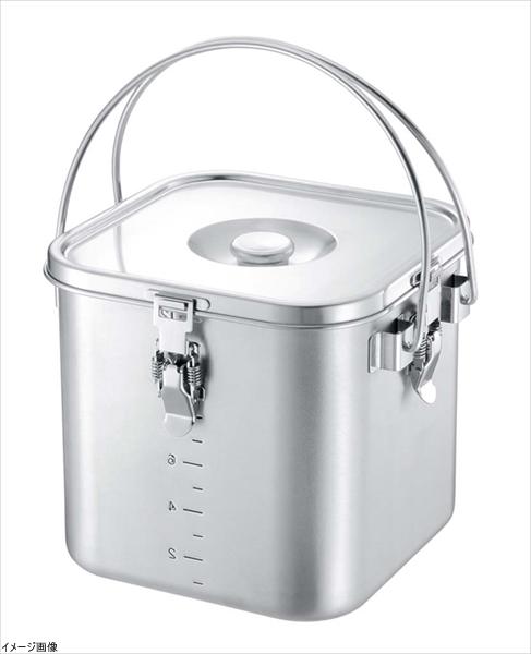 仔犬印 K IH対応 19-0 角型給食缶(目盛付)18cm