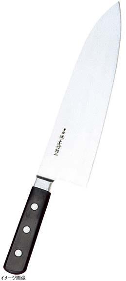 堺孝行 日本鋼(ツバ付)小間切牛刀 30cm