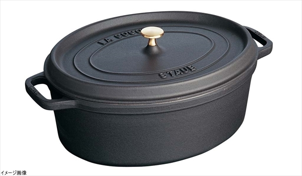 Staub ココット オーバル 23cm ブラック 40500-231(1102325)