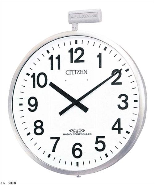 シチズン 電波 大型 掛け時計 アナログ パルウエーブ M611B 屋外 用 防雨 ステンレス 銀色 CITIZEN 4MY611-B19