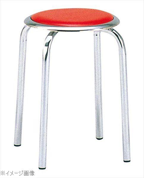 丸椅子 M-24M(10脚入)レッド