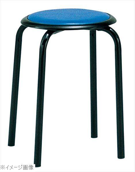 丸椅子 M-24T(10脚入)ブルー