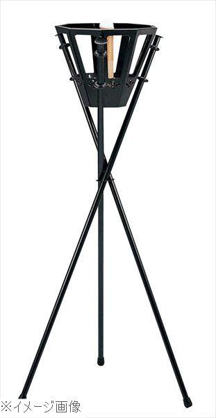 ろうそく式 かがり火 松明 SX-001 黒パイプ スチール