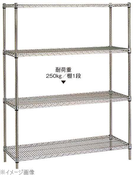 18-8(ステンレス) ステンレスエレクターシェルフ 4段 PS2200×SAS910